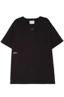 Серая удлиненная футболка C2 H4
