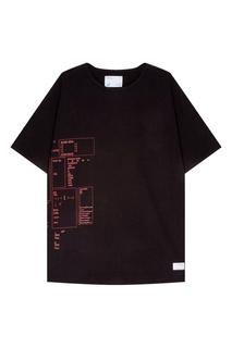 Черная футболка с принтом C2 H4