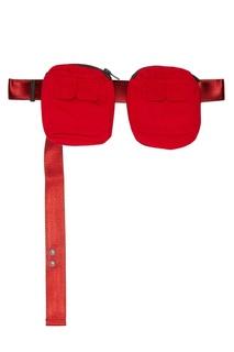 Двойная сумка на пояс красного цвета C2 H4