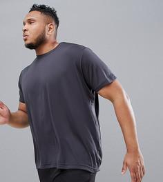 Серая футболка adidas PLUS Training Freelift Chill CE0818 - Серый