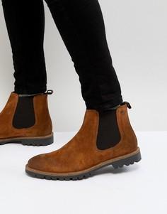 Светло-коричневые ботинки челси Base London Turret - Рыжий