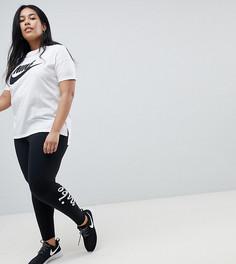 Леггинсы с завышенной талией Nike Plus - Черный