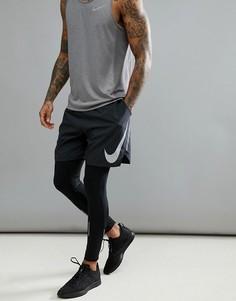 Черные шорты со светоотражающей отделкой (7 дюймов) Nike Running Flex Distance Flash 899498-010 - Черный