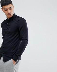 Черная облегающая рубашка из вискозы ASOS DESIGN - Черный