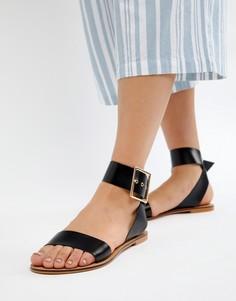 Кожаные сандалии ASOS DESIGN Farah - Черный