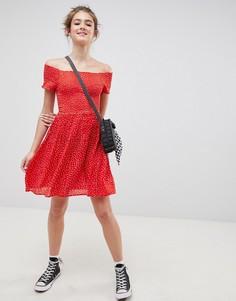 Чайное платье Blend She Dotta - Красный