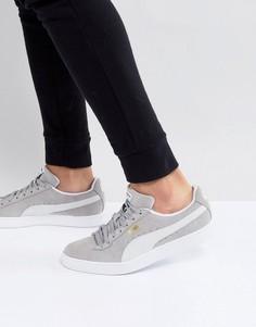 Серые классические замшевые кроссовки Puma 36534701 - Серый