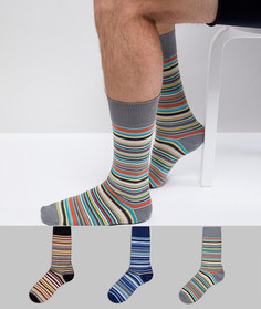 3 пары классических носков в полоску Paul Smith - Мульти