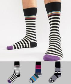 3 пары носков в полоску/горошек Paul Smith - Мульти