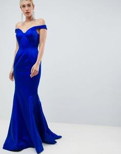 Платье с вырезом сердечком Jovani - Синий