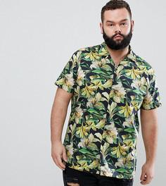 Рубашка скинни с гавайским принтом Heart & Dagger Plus - Желтый