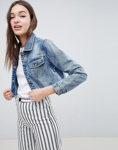 Укороченная джинсовая куртка Brave Soul Fitz - Синий