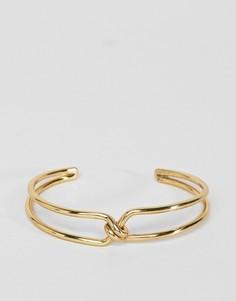 Браслет-манжет в два оборота ASOS DESIGN - Золотой