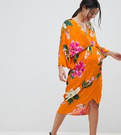 Платье миди с ярким цветочным принтом ASOS DESIGN Maternity - Мульти
