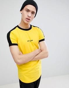Желтая обтягивающая футболка Sixth June - Желтый