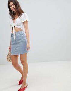 Мини-юбка в полоску Esprit - Мульти