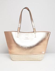 Пляжная сумка цвета розового золота New Look - Золотой