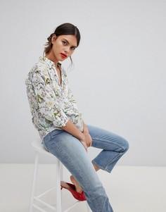 Блузка с тропическим принтом Esprit - Белый