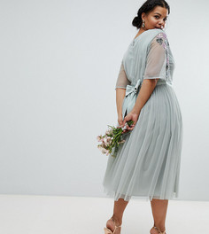 Платье миди из тюля Maya Plus - Зеленый
