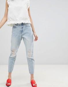 Состаренные джинсы в винтажном стиле Vero Moda - Синий
