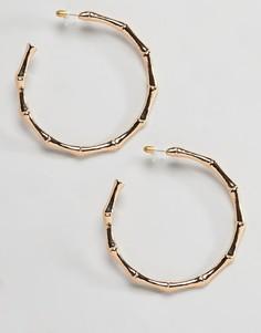 Большие серьги-кольца DesignB London - Золотой