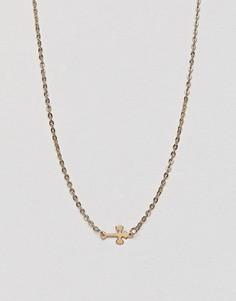 Ожерелье с крестиком DesignB London - Золотой