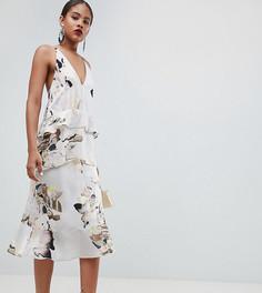 Платье миди на бретельках с цветочным принтом ASOS DESIGN Tall - Мульти