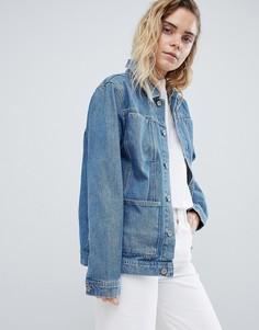 Джинсовая куртка в стиле вестерн Bethnals Alfie - Синий