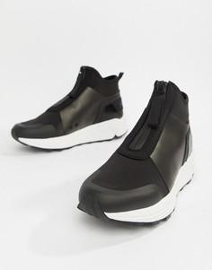 Черные кроссовки с логотипом HUGO Horizon - Черный