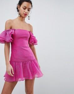 Платье мини с оборками Keepsake - Розовый