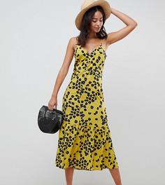 Платье-комбинация со звериным принтом ASOS DESIGN Tall - Мульти