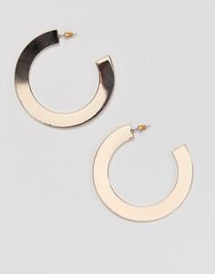 Золотистые серьги-кольца Missguided - Золотой
