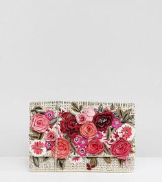 Клатч с цветочной вышивкой Accessorize Roma - Мульти