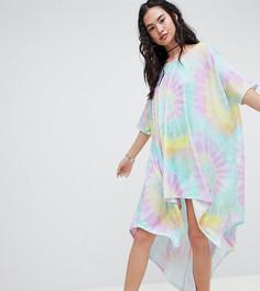 Платье-футболка с принтом тай-дай Rokoko - Мульти