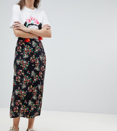 Юбка миди с запахом и цветочным принтом Reclaimed Vintage Inspired - Мульти