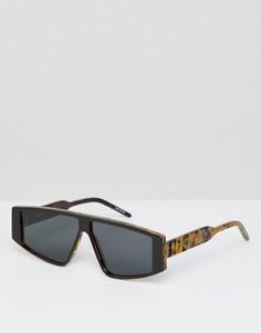 Квадратные черепаховые солнцезащитные очки Spitfire - Коричневый