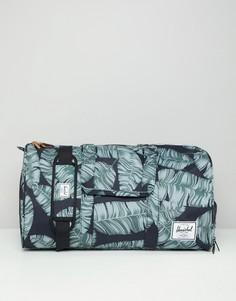 Сумка дафл с пальмовым принтом Herschel Supply Co Novel - 42,5 л - Черный