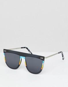 Черные солнцезащитные очки с плоским верхом Spitfire - Черный