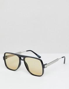 Черные очки с прозрачными стеклами в квадратной оправе Spitfire - Черный