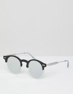 Черные круглые солнцезащитные очки с зеркальными стеклами Spitfire - Черный