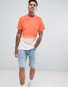 Футболка с эффектом омбре Another Influence - Оранжевый