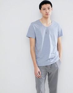 Голубая футболка Weekday Daniel - Синий