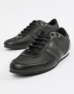 Черные нейлоновые кроссовки со светоотражающей отделкой BOSS - Черный