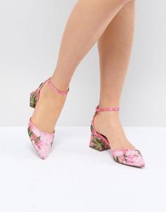 Туфли на среднем каблуке с вышивкой ASOS DESIGN Shakira - Розовый