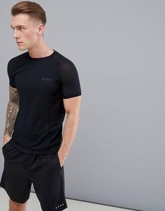 Обтягивающая футболка с сетчатыми вставками ASOS 4505 - Черный
