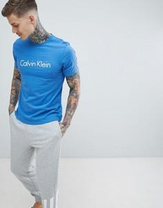 Хлопковая футболка Calvin Klein - Синий