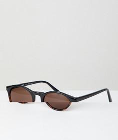 Солнцезащитные очки в круглой черепаховой оправе AJ Morgan - Коричневый