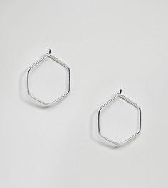 Серебряные миниатюрные серьги-шестигранники Kingsley Ryan - Золотой