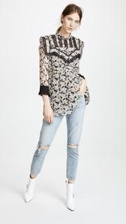 Anna Sui Bloom Silk Tunic