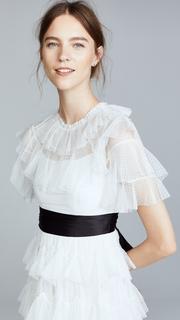 Needle & Thread Scallop Tulle Midi Dress